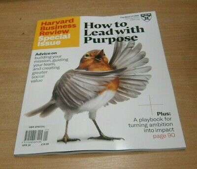 HBR Harvard Business Review magazine Special Issue SPRING 2020 Lead with Purpose