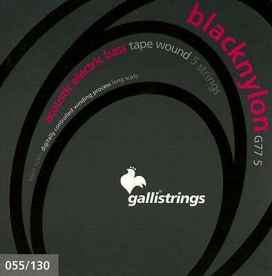 GALLI G77-5 BASS  STRINGS Set 5 corde Black Nylon 055-130 basso elettro acustico