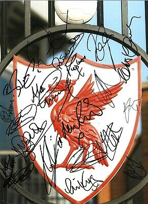 Liverpool Multi Legends Authentic Signed 16 x 12 football photo GK270a