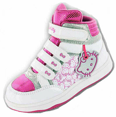 New Girls Hello Kitty Cartoon Character Hi-Top Trainer Trainer Boot Shoe