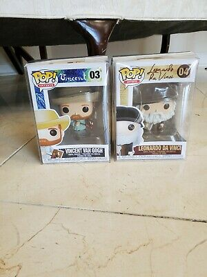 Funko Pop! Artists: Leonardo Da Vinci & Vincent Van Gogh Set With Pop Protectors