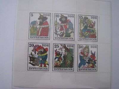 DDR East Germany Stamps 1976 M/S Fairy Tales (11th Series) MNH