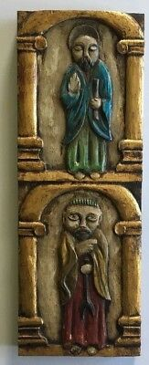 Vintage Wooden Hand Crafted Wall Hanging from Spain Florentia