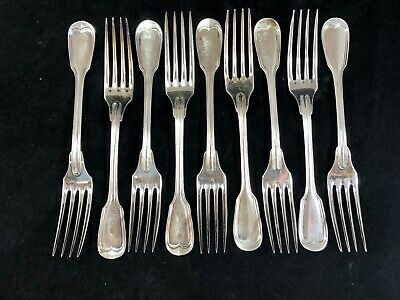 Christofle CHINON 7 Inch Dinner Dessert Fork Silver Plated No Monogram