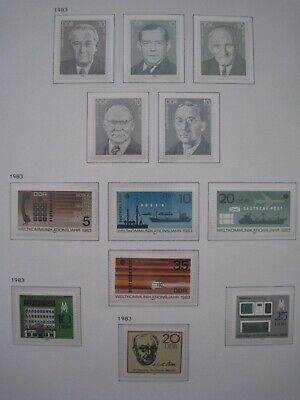 DDR East Germany Stamps 1983 MNH