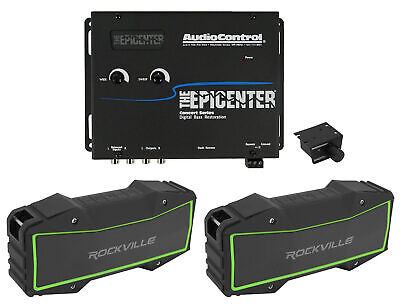 AudioControl The Epicenter Black Digital Car Bass Processor + Wireless Speakers