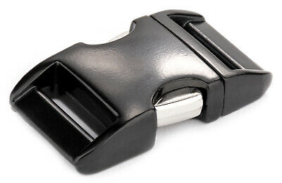 5 - 3/4 Inch Black Aluminum Side Release Buckles