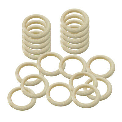 35/65mm Wooden Baby Teething Rings Teether Gift Toys DIY Jewelry Craft Accessory