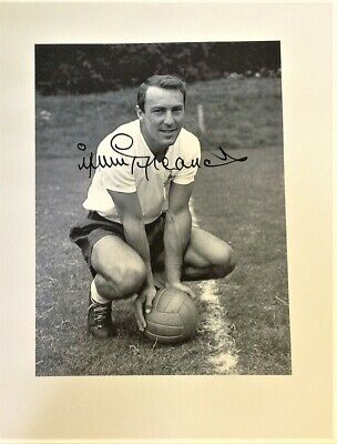 Jimmy Greaves autographed football CANVAS Tottenham Authentic Signed GK0629b