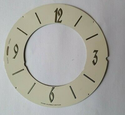 Vintage Smiths westminster chimes 155mm mantel clock dial/face/chapter ring