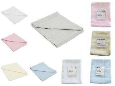 Kids Muslin Squares Baby Muslins Cloths Nappy Inserts 100% Cotton