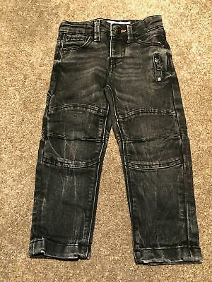 Boys 2-3 Years Jeans Trousers Distressed Black Primark S/Nb109
