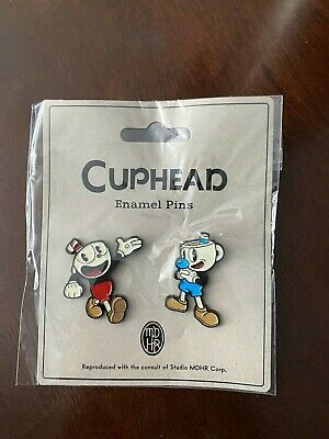 Cuphead And Mugman Enamel Pins 1 Pack of 2 pins.