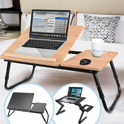 Laptop Stand Table Foldable Desk Bed Computer Study Adjustable Portable Tray