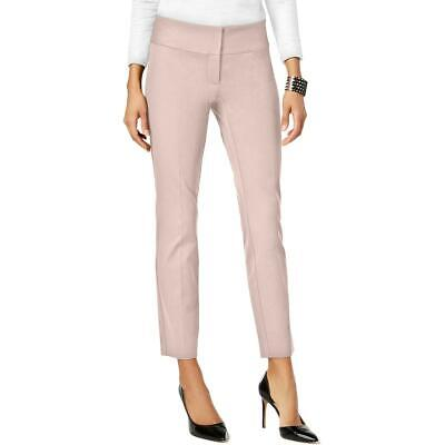 Alfani Womens Pink Slim Straight Leg Tummy Control Dress Pants 4 BHFO 5193