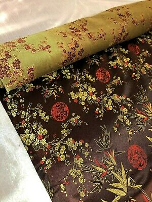 1 Metre blossom floral lilac  Design Chinese Brocade Fabric 45 inch Wide
