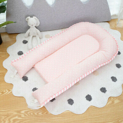 Foldable Travel Outdoor Crib Baby Cotton Sleeping Baby Bassinet Bed Pink Wave