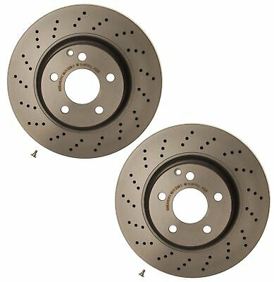 For Mercedes CL55 AMG W215 W220 Pair Set of Front StopTech Drilled Brake Rotors