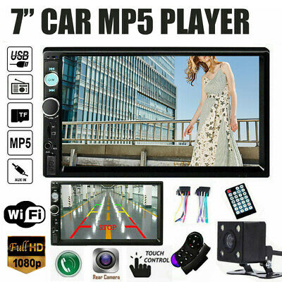 "7"" 2DIN Car MP5 Player GPS bluetooth Touch Screen Stereo Camera for Android IOS"