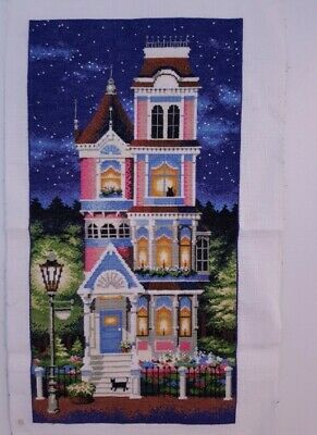 Hand made completed cross stitch 52 x 27 cm (non framed)