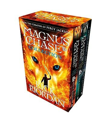 Magnus Chase Series 3 Books Collection Box Set By Rick Riordan