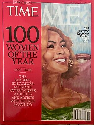Time Magazine - March 16 - 23,  2020 -100 Women Of The Year - Beyonce  (Cover)