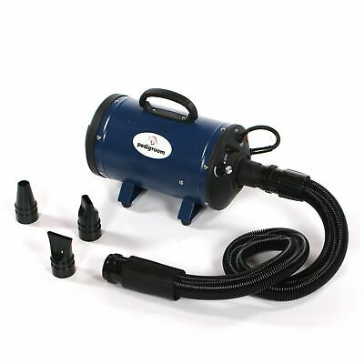 Pedigroom dog blaster pet dryer grooming hair hairdryer heater wash dry blue