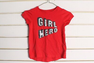Nutmeg Girls Kids Youths T-Shirt - Red - Size Age 5-6 Yearas (cc2)