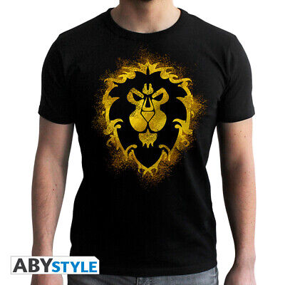 World Of Warcraft Mens Navy Blue T Shirt For The Alliance Movie Film Official