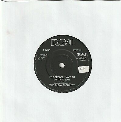 The Blow Monkeys--It Dosn't Have To Be This Way  1986  Ex/Ex £1 Record Sale