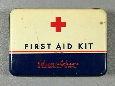 Vintage Johnson & Johnson First Aid Kit.