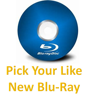 PICK YOUR LIKE NEW BLU-RAY buy 2 or more and all blu ray are 1/2 price)
