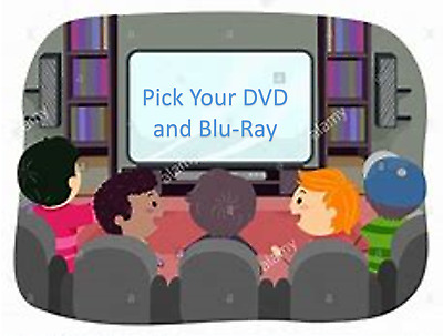Pick Brand New DVD's & Blu-Ray's  (Buy 2 or more and all new movies 1/2 price)