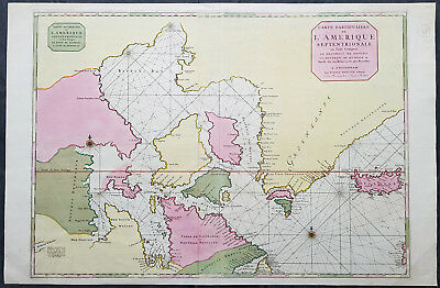 1695 Pierre Mortier Large Antique Hudsons Bay Company Map of Northern Canada