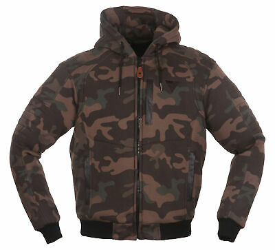 MODEKA Hootch Motorrad Hoodie camouflage Gr. XL (54) made with DuPont™ Kevlar®