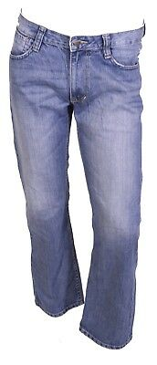 GJ8-112 Tom Tailor Brad Herren Jeans W31 L30 blau low waist relaxed straight