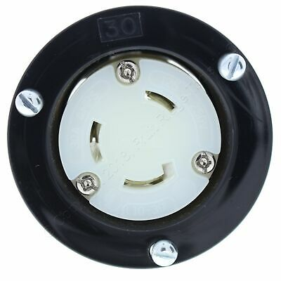 Cooper Twist Turn Locking Flanged Outlet Receptacle L10-30R 30A 125/250V L1030FO