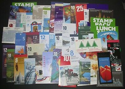 Face $232 Lot of 50 Different Canada Stamp Booklets BK56 to BK312