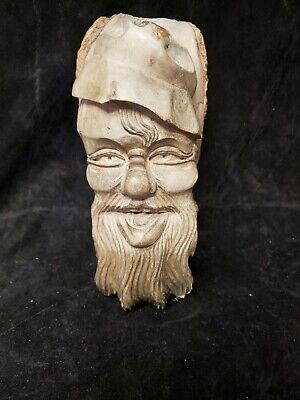 Awesome Antique Black Forest  Wooden Carving Gnome Wall or Table Decor