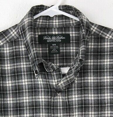 BROOKS BROTHERS Country Club Wool Blend Plaid Flannel Shirt Mens Size M