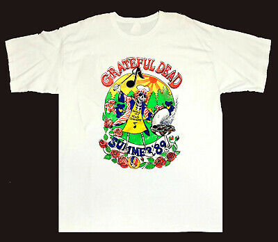 Grateful Dead T Shirt Vintage 1981 Jerry Garcia Band Tour JGB Guitar Reprint