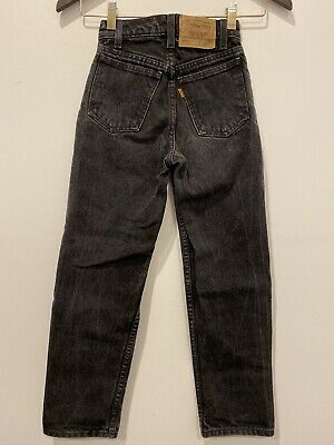Boys Levis Jeans 550 Relaxed Fit Black Wash Size 9 Slim