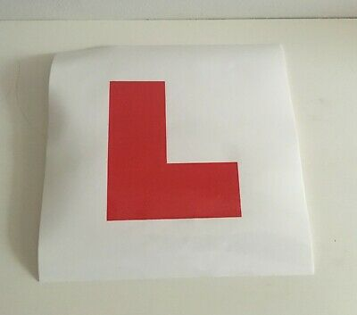 New Re-Usable Removable L Plate Exterior Learner Safe Legal Driving Instructor