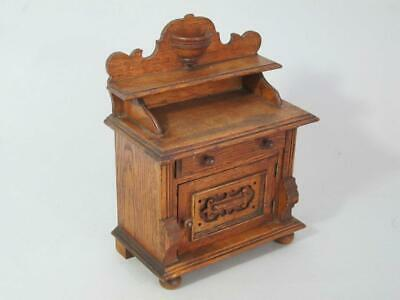 FINE ANTIQUE MINIATURE APPRENTICE PIECE OAK SIDEBOARD 1900 chest dolls house