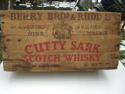 Vintage Cutty Sark Scotch Whiskey Wooden Crate Product of Scotland