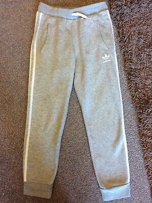 Adidas - Light Grey With White Stripe Joggers - Age 12/13 - I Combine Postage