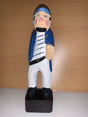 "Hand Carved Wooden Fisherman Wooden Nautical 4.5"" Figure"