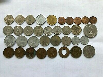 Lot Of 35 Mixed Coins Of Pakistan