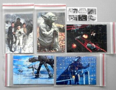 Star Wars Tombola 1997 Complete set of 5 Jigsaws