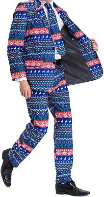 You Look Ugly Today Mens Blue Size Large L X-Mas Novelty 2 Piece Suit $99 #335